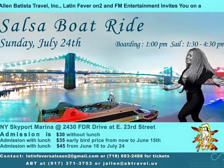 Summer Salsa Boat Ride July 24th